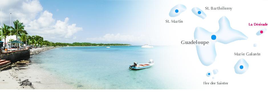 Kleine Antillen Karte.La Desirade Online Reisefuhrer Geografische Lage Karte